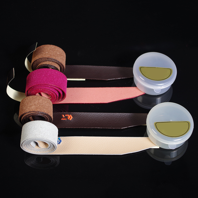 Badminton Racket Cover Wrap Tapes Non-slip Sweat Absorbing Belts Breathable Leather Sweatband Tapes Fishing Rod Belt