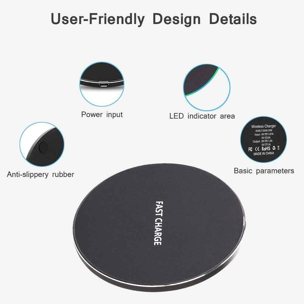10W Draadloze Oplader Pad Voor Doogee S60 Lite / S70 Lite Qi Chargeur Inductie Nouvelle Versie Draadloze Oplader Voor samsung S8