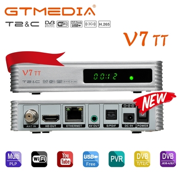 GTMEDIA V7 TT PRO 1080P Full HD DVB-T/T2/Cable Support H.265 Full speed USB 3G dongle and LCN Support Logic Channel Number image