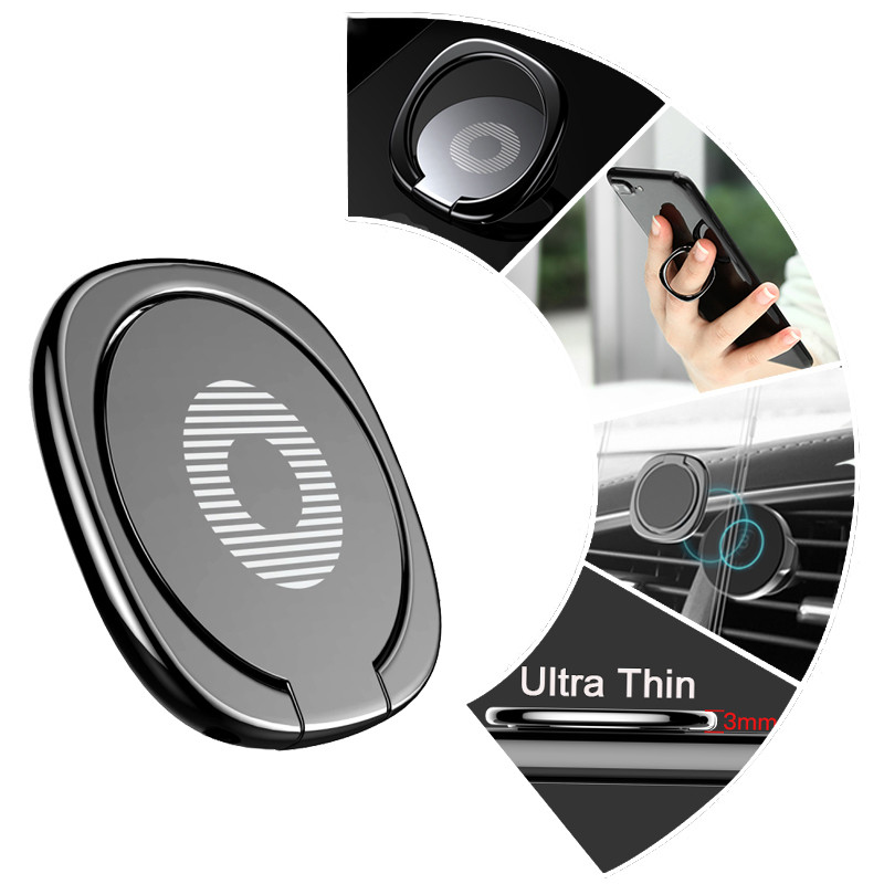 Mini 360 Degree Finger Ring Holder Metal Phone Stand Mount Smartphone Holder For Xiaomi Redmi Note 8 IPhone 7 8 X Mobile Phone