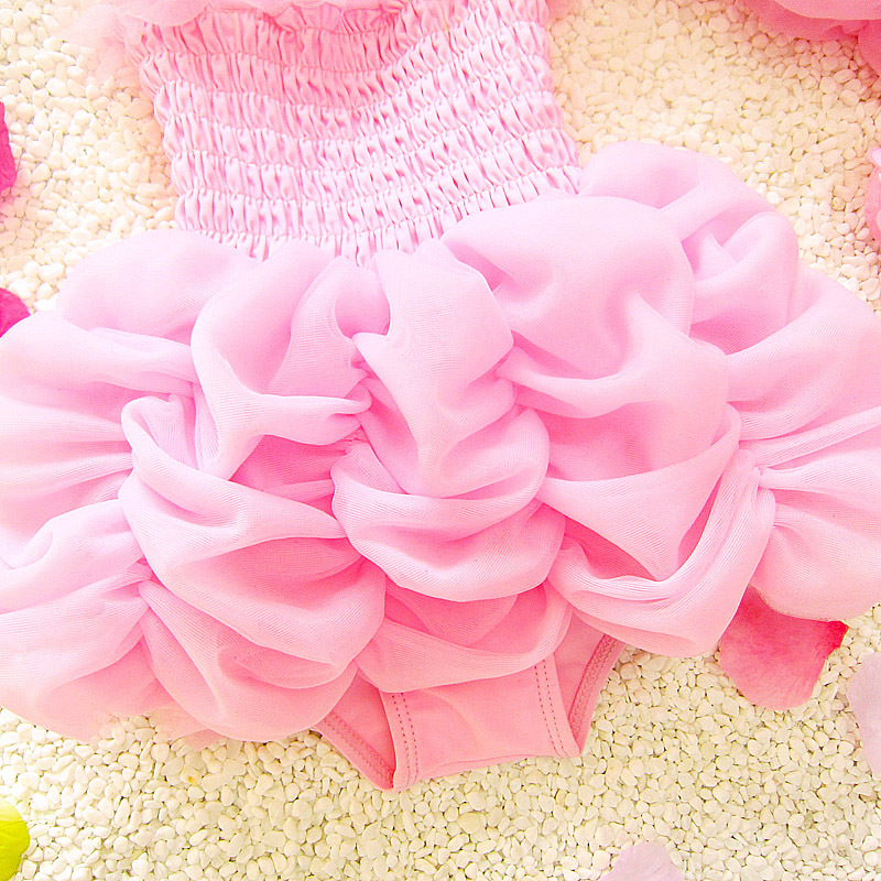 2018 New Style Infants Children Hot Springs Little Big Baby Girls Swimsuit One-piece Tutu South Korea GIRL'S Swimsuit