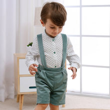 Детский хлопковый комбинезон с галстуком бабочкой и шортами