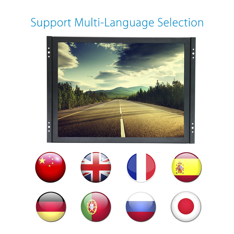 19 inch touch screen monitor 5 wire resistive touch screen lcd industriële monitor - 6
