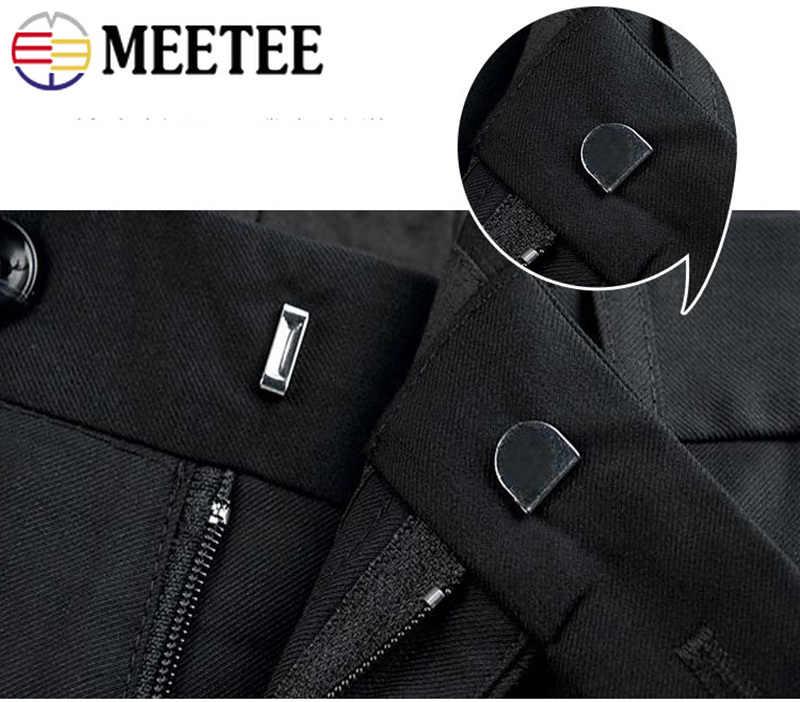 Meetee 30/50 ensembles cuivre métal pantalon crochet manteau de fourrure Invisible bouton jupe crochet bricolage pantalon réglage boucle couture accessoire CN047