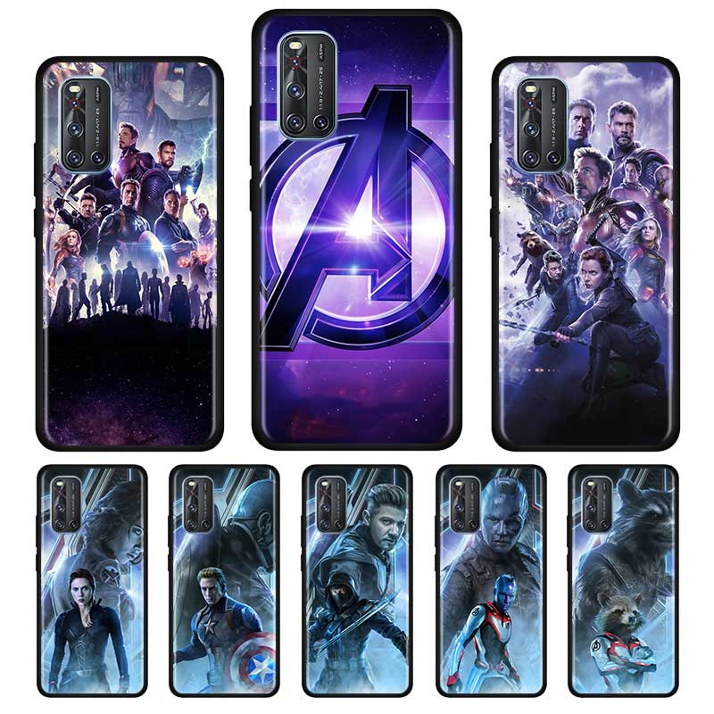Marvel Avengers League End Game Silicone Soft Case For Vivo S1 Y15 Pro Y12 Y17 Y19 Y30 Y50 V19 Z6 5G Iqoo Z1 3 5G Case Shell