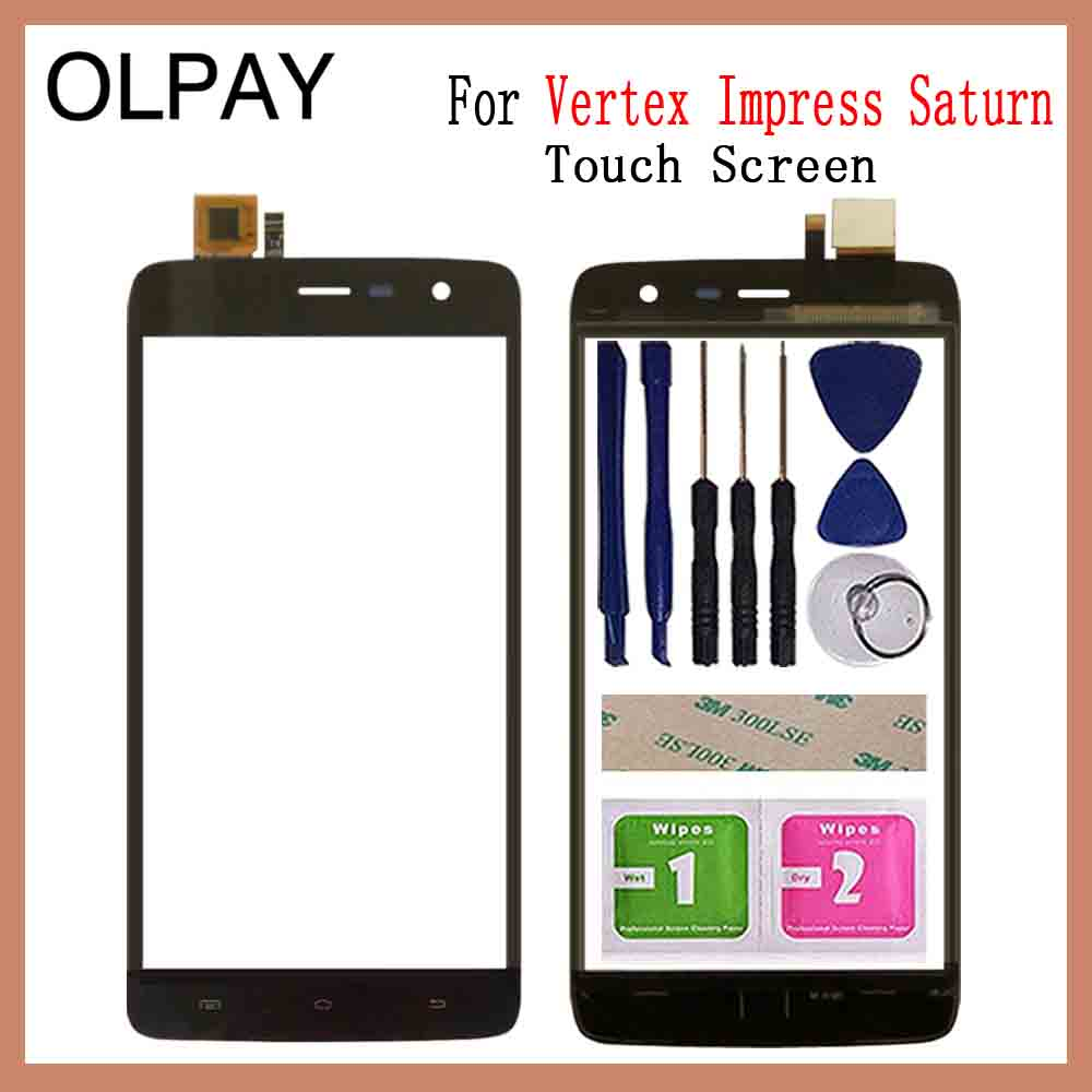 OLPYA 5.0'' Mobile Phone Touchscreen For Vertex Impress Saturn Touch Screen Glass Digitizer Panel Lens Sensor Glass And Tools