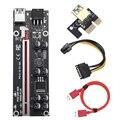 10 stücke 2021 VER009S Plus PCI-E PCIE Riser Karte 009s PCI Express Adapter Molex 6Pin SATA zu USB 3,0 kabel 1X 16X Extender
