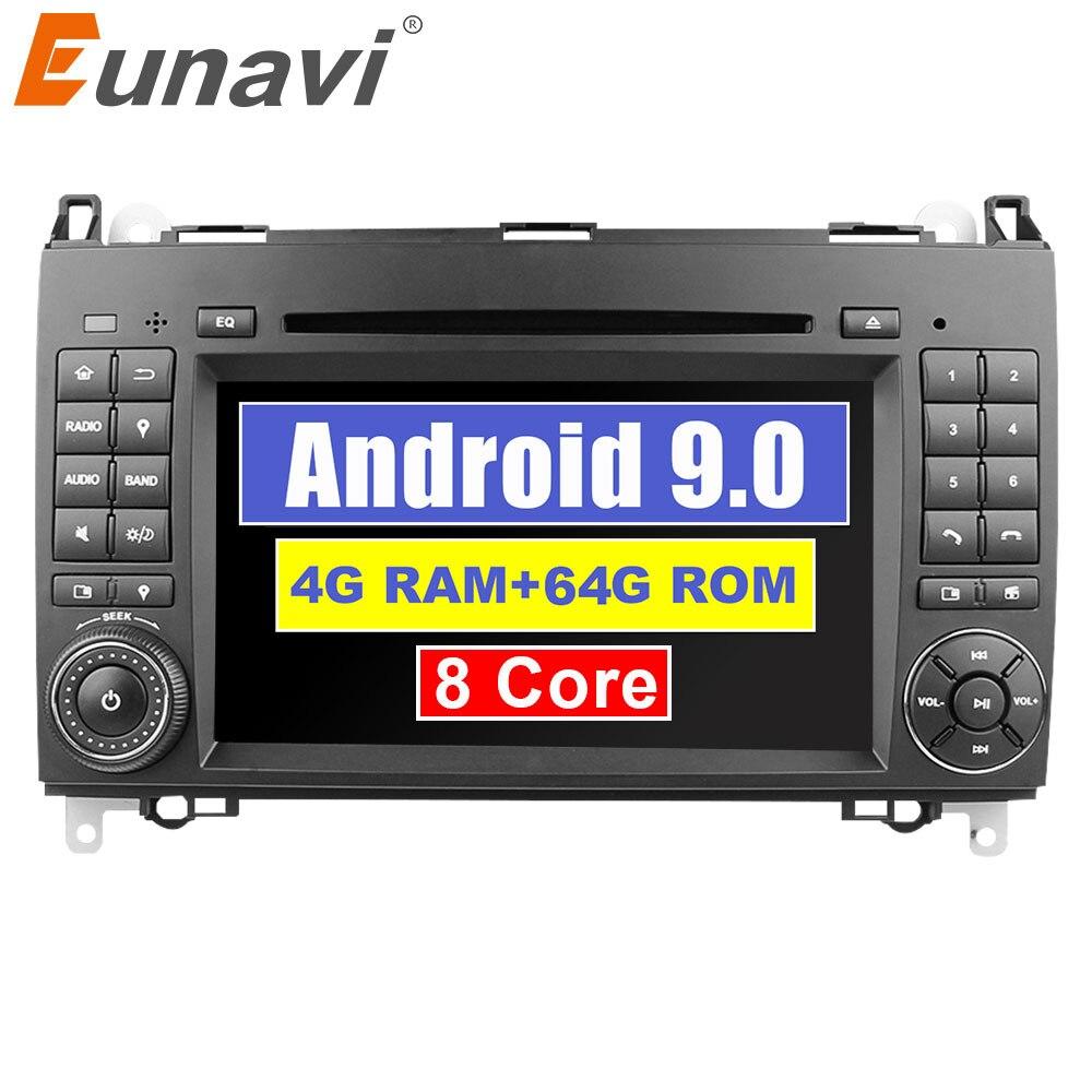 Eunavi 8 9 2 Din Android Octa core DVD Player Do Carro Para O Benz Sprinter Vito W169 W245 W469 W639 B200 radio GPS WiFi 4GB 64GB DSP