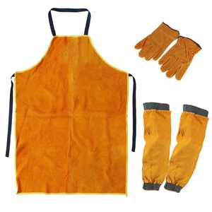 Gloves Apron-Sleeves Workwear Blacksmith Gardening-Welding Protection Thorn-Proof Heavy-Duty
