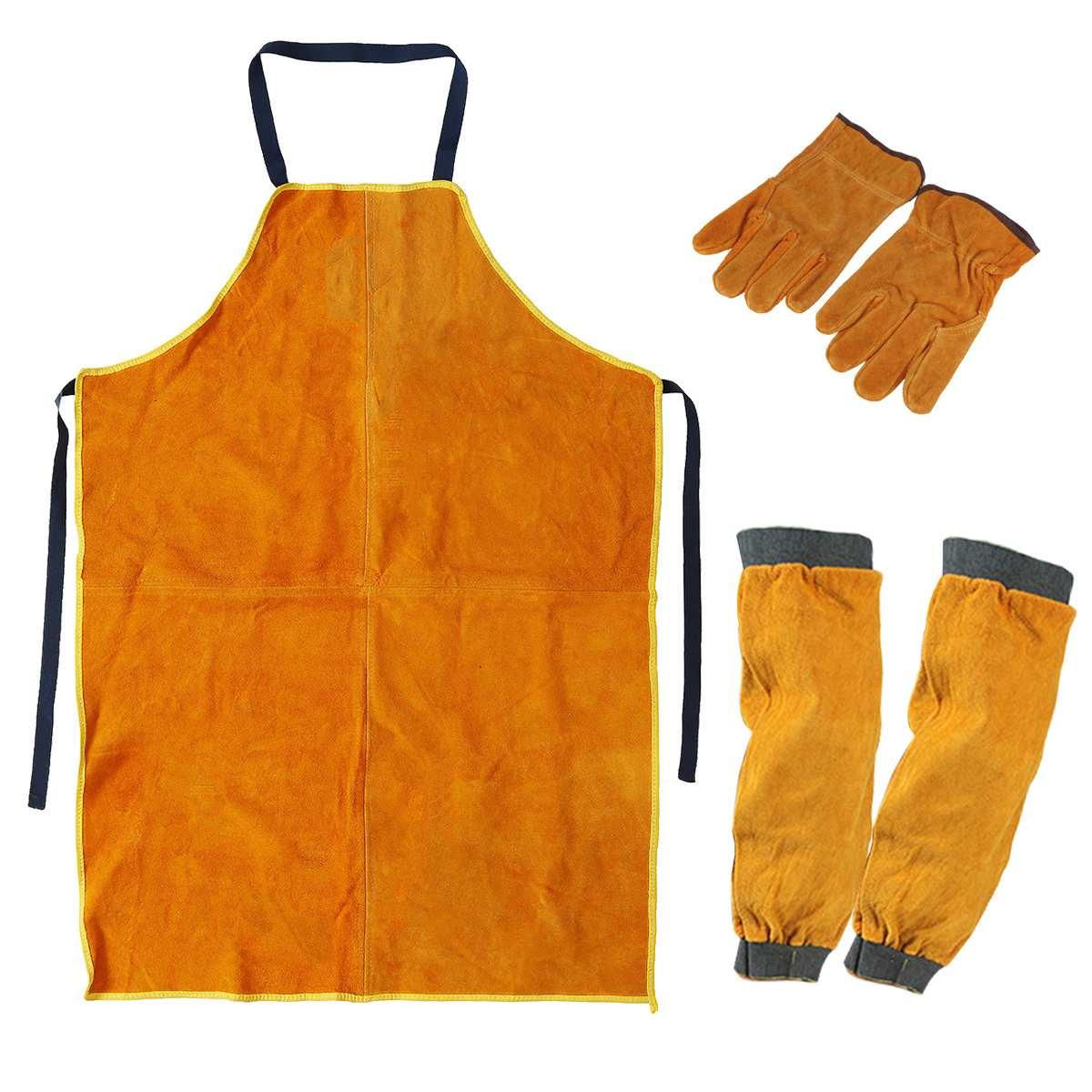 Сверхпрочный садовый сварочный фартук, рукава, перчатки, защита от шипа, безопасная рабочая одежда, глазуры, Blacksmith Защитный костюм      АлиЭкспресс