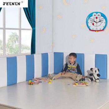 Solid color headboard soft bag Self-adhesive tatami soft wall soft wall sticker kids room soft bag background 3D wall sticker