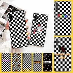 Чехол для телефона с шахматным узором в клетку PENGHUWAN для Samsung Note 3 4 5 7 8 9 10 pro M10 20 30