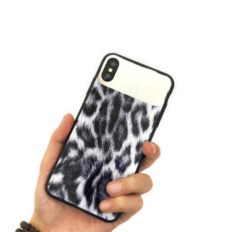 Image 5 - wholesale!!! 10pcs/set women leopard mirror toughened glass back cover case For iPhone X XR XS Max 8 7 Plus lady phone back case-in Fitted Cases from Cellphones & Telecommunications