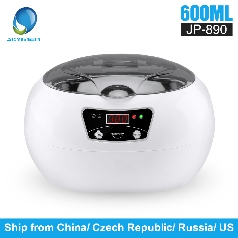 SKYMEN 0.6L Ultrasonic Cleaner Bath  Washing Tank Jewelry Watch Ring Glasses Parts Money Coins