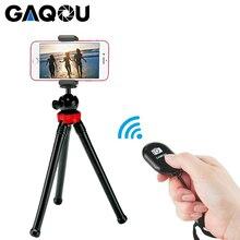 GAQOU мини Штатив Гибкая Осьминог мобильный телефон штатив кронштейн с дистанционным управлением монопод палка для селфи для iPhone Gopro камера