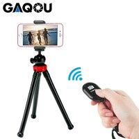 Gaqou mini tripé flexível polvo suporte do tripé do telefone móvel com controle remoto monopé selfie vara para o iphone câmera gopro