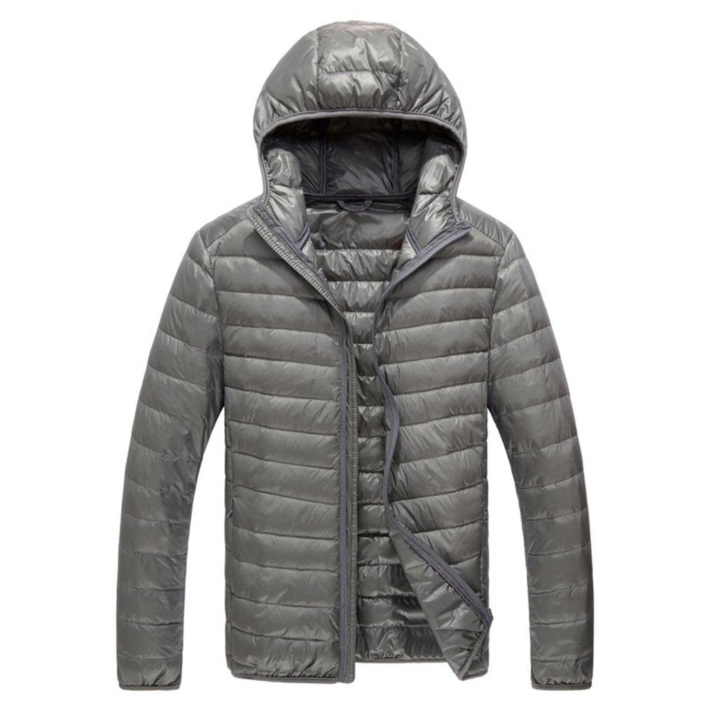 M-3XL 2020 Winter Warm Slim Men Down Jackets Casual Hooded Parka Male Solid Duck Feather Down Jacket Zipper Coats
