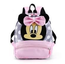 Sac à dos dessin animé Disney pour bébés garçons et filles, joli cartable Minnie Mickey Mouse, cartable de maternelle, cadeau pour enfants