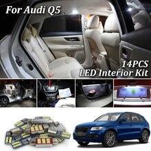 14 шт. белые светодиодные с CANBUS салона комплект ламп для Audi Q5 8RB 2008- светодиодная гирлянда для внутреннего купола подсветка багажника