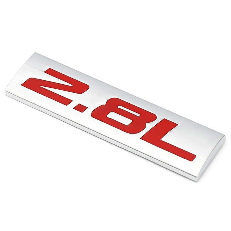 2.0L 2.3L 2.4L 2.5L 2.8L ملصقات السيارات شعار شارة ملصق مائي لتويوتا مرسيدس مازدا نيسان BMW أودي هوندا هيونداي فورد كيا VW SUV
