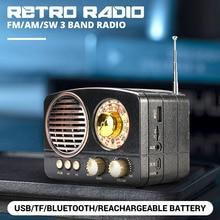 Портативный 5 Вт Ретро винтажный беспроводной bluetooth-динамик мультимедиа Hi-Fi стерео гарнитура Hansfree Поддержка FM AM SW USB AUX TF карта
