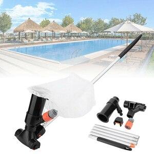 Image 2 - Пылесос для бассейна, пылесос для бассейна, 5 секций, всасывающий наконечник, разъем на входе, портативный съемный чистящий инструмент, ЕС