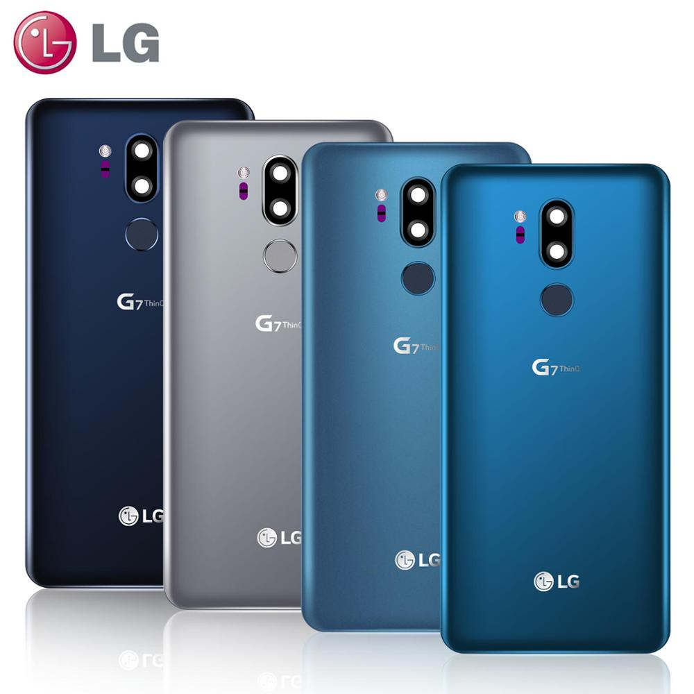Original Rear Back Housing For LG G7 Back Housing Glass Battery Door For LG G7 ThinQ G7+ G710 G710M Back Cover Replacement Parts