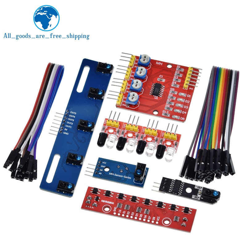 1 4 5 8 kanal TCRT5000 IR Lichtschranke Barrier Linie Track Modul Infrarot Hindernis Vermeidung Sensor Für Arduino DIY