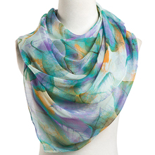 ELIfashion Long Leaf Printing Soft Scarf Wrap Luxury Shawl Special Craft Chiffon Touch Feeling Fashion & Warm For Women 7 Colors