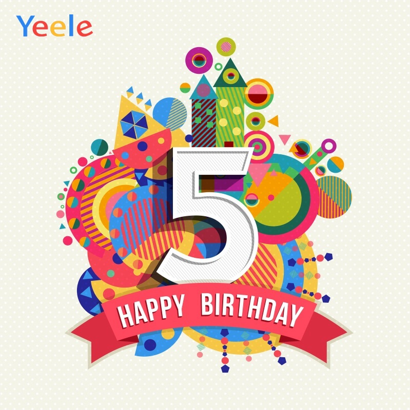 Yeele 5th <font><b>8th</b></font> <font><b>Birthday</b></font> Photocall Cartoon Castle Photography Backdrops Personalized Photographic Backgrounds For Photo Studio image