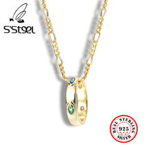 Ожерелье женское из серебра 925 пробы с фианитами