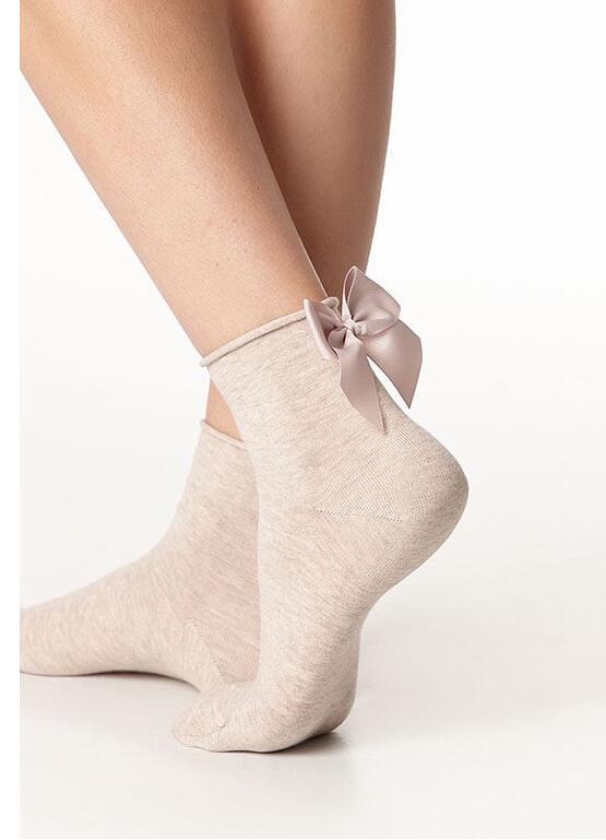 Fashion Bow Socks Streetwear Women's short socks  Candy Color  Contrast Color Short Sockings Ladies Bowknot Sox 1pairs/2pcs