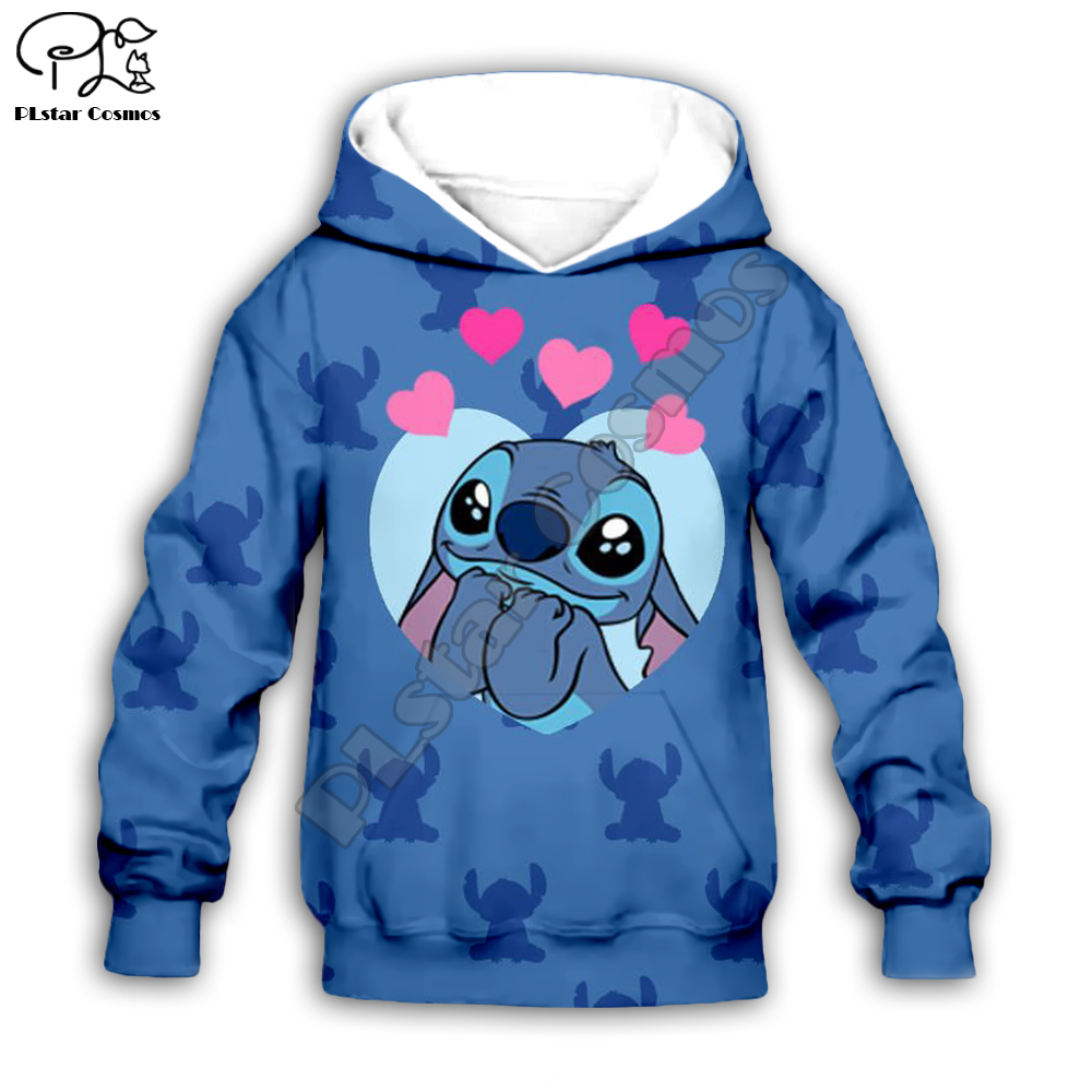 Kids Cloth Anime Kawaii Lilo Stitch 3d Hoodies/boy Sweatshirt Cartoon Hot Movie Style-3