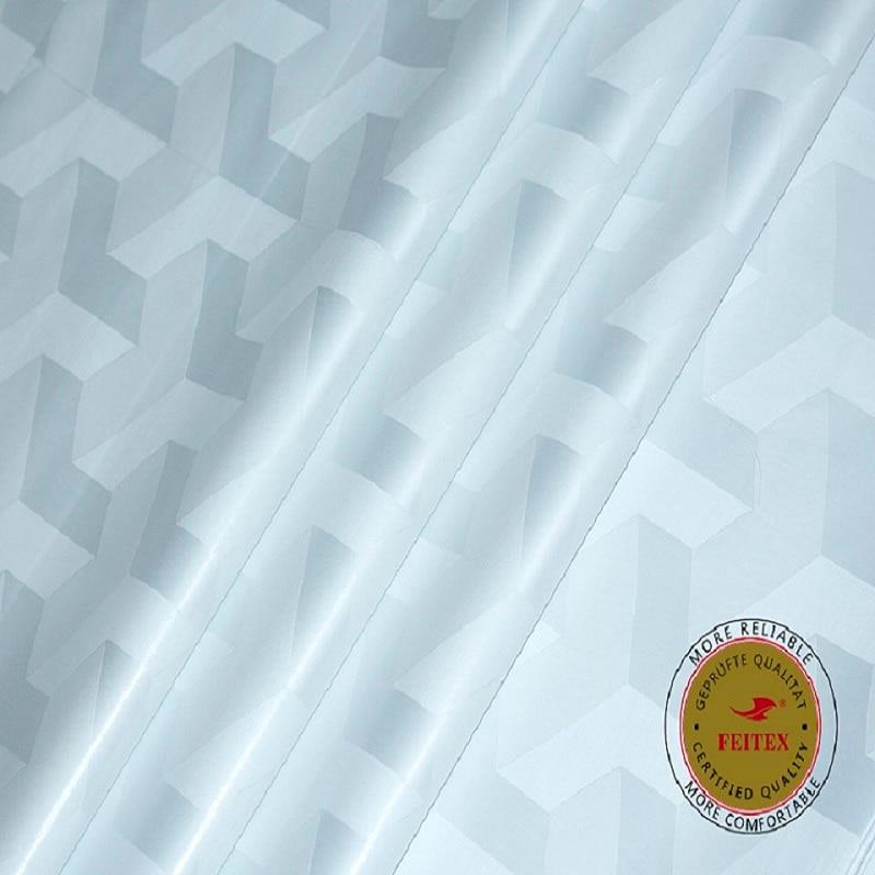 Blanc Bazin Riche similaire Getzner 5 mètres autriche guinée brocart vêtement tissu 100% coton tissu vente chaude pour hommes vêtements