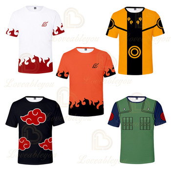 Japanese Hot Anime Naruto 3D Print Tshirt Men Hip Hop Streetwear Tee T Shirt Boys 5 Colors Cool Clothes Man Tops anime naruto 3d print finger t shirt men women hip hop crewneck t shirt tee boys casual streetwear red tshirt clothes harajuku