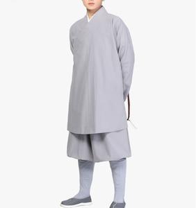 Image 2 - Unisexe coton lohan vêtements ensembles bouddhiste moine costumes robesmartial arts/kung fu uniformes bouddhisme arhat vêtements gris