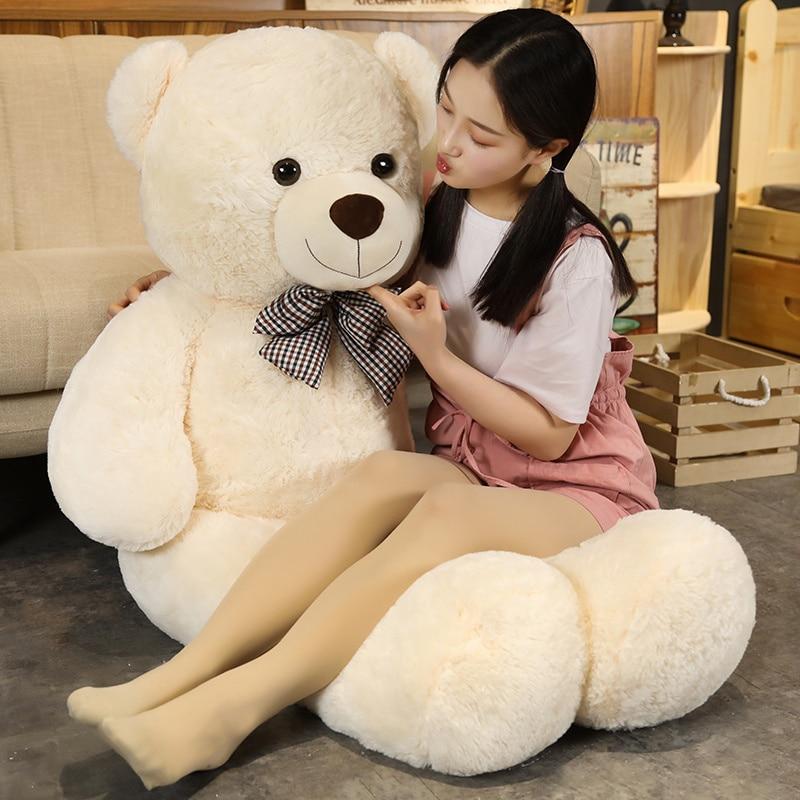 Sıcak yeni güzel dev amerikan ayı peluş oyuncak doldurulmuş hayvanlar oyuncak ayı bebek yastık çocuk kız popüler sevgililer doğum günü hediyesi