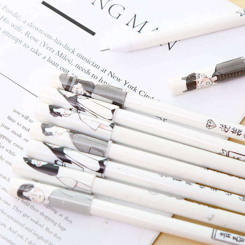 Korean Hand Drawing Cute Gel Pens Black