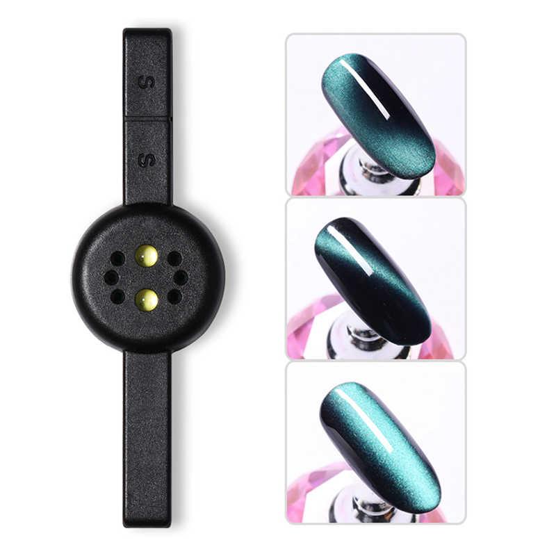 1 adet 3W manyetik sopa UV lambası pembe siyah beyaz iki-in-one USB kablosu Mini kür DIY tasarım manyetik tırnak araçları