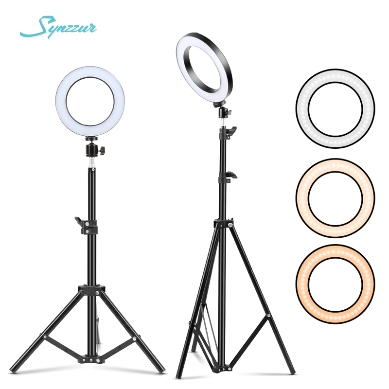 Tripod - LED Makeup Light Ring 5500K Dimmable Photographic Lighting With Tripod Stand LED Lamps Selfie Phone Ring Light For Video Camera