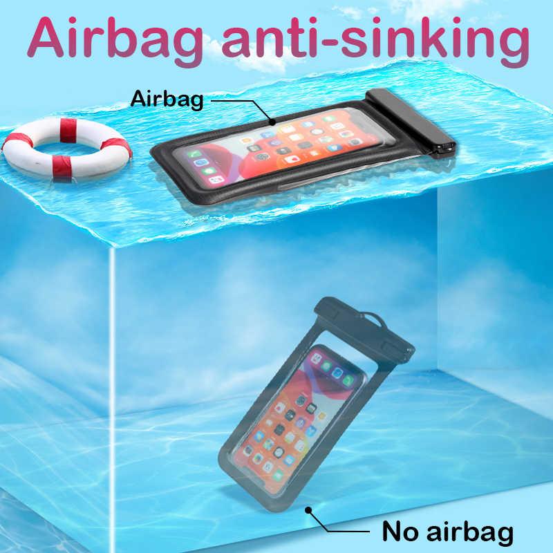 防水バッグ水泳サーフィンエアバッグ電話ケース xiaomi redmi 注 9s 7 8 pro の iphone 7 11 プロ xs max x サムスン A71 A51
