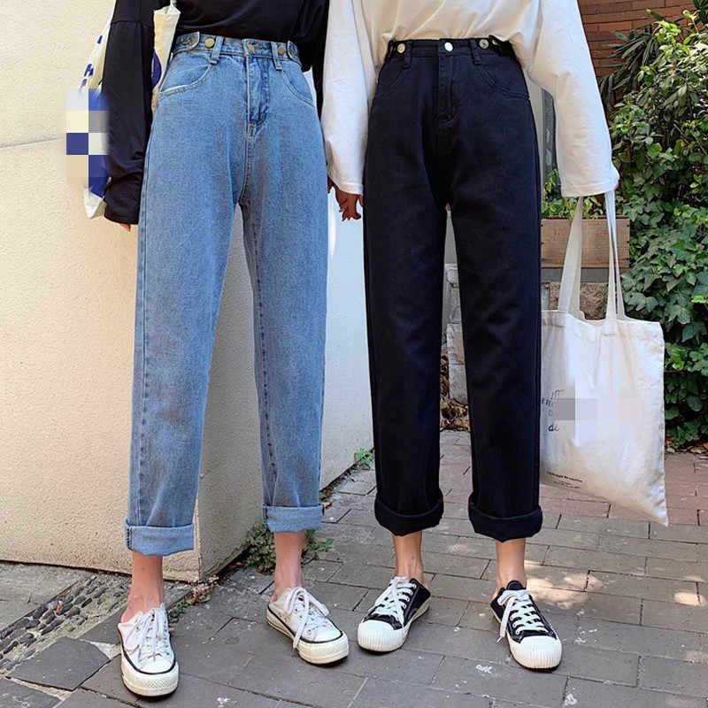 Pantalones Vaqueros De Cintura Alta Informales Para Mujer Moda Coreana Holgado G1423 Venta Al Por Mayor 2019 Pantalones Vaqueros Aliexpress