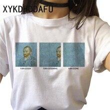 Camiseta con estampado de Van Gogh para mujer, camiseta estampada de arte moderno, ropa de estética Ulzzang para mujer, camiseta informal de estética Grunge