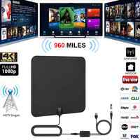 Antena de 960 millas para TV Digital 25DB HDTV antena con 4K UHD rejilla interior TV satelital antena Mini HD la antena de TV Digital DVB-T2