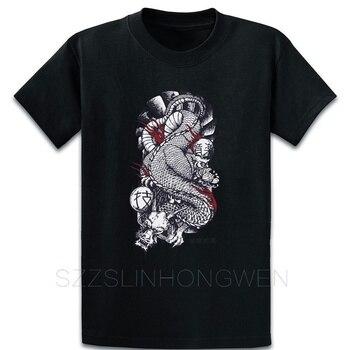 Japón dragón Yakuza camiseta novedad camiseta primavera otoño interesante nueva moda diseñador cuello redondo letras camisa