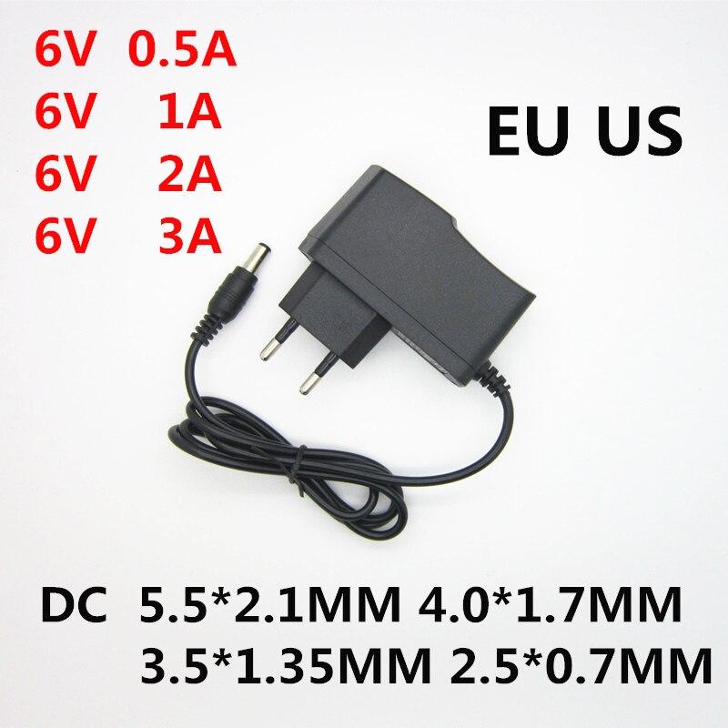 Универсальный адаптер питания с 110-240 в перем. Тока на 6 в пост. Тока, 0,5 А, 1 А, 2 А, 3 А, зарядное устройство 6 в вольт для монитора артериального да...