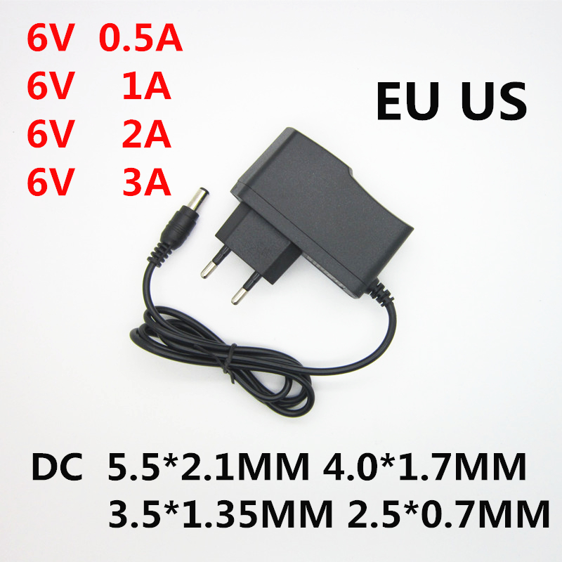 AC 110-240V to DC <font><b>6V</b></font> 0.5A 1A 2A <font><b>3A</b></font> Universal Switch <font><b>Power</b></font> <font><b>Supply</b></font> Adapter Charger 6 V Volt for Omron Blood Pressure Monitor M2 M3 image