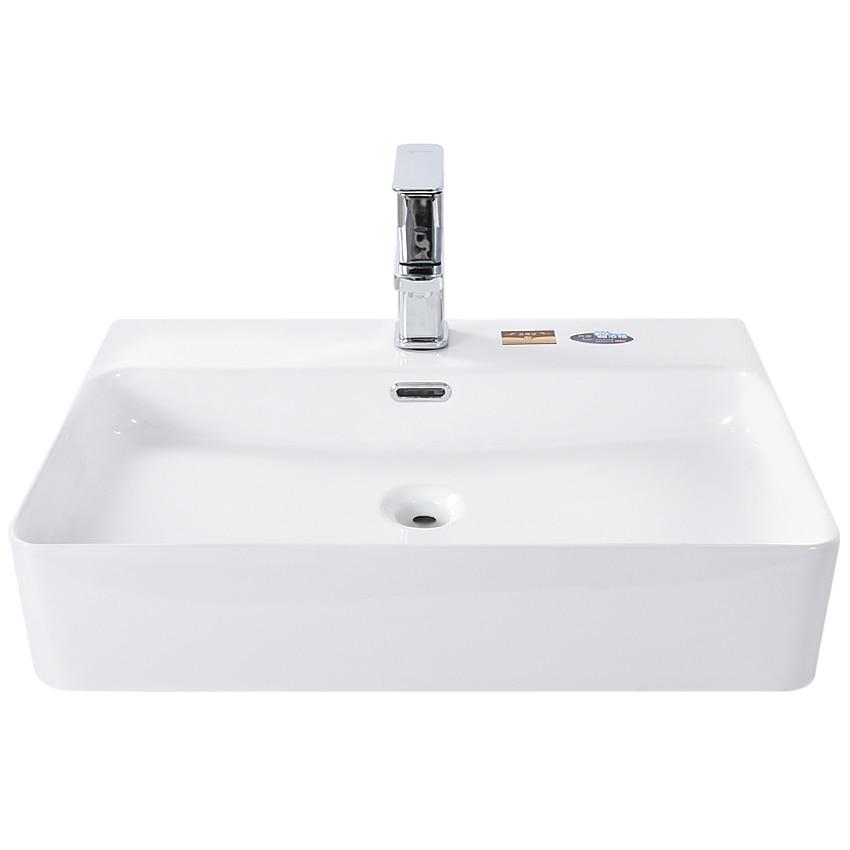S660 современная простота керамической раковины столешницы прямоугольные раковины для ванной комнаты художественная белая квадратная чаша для раковины Бытовая раковина