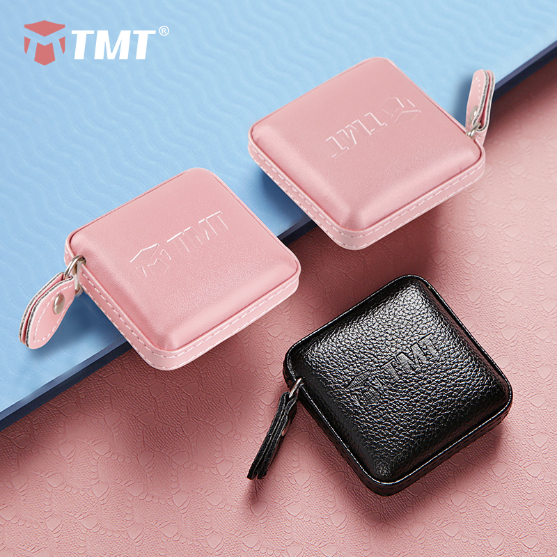 TMT Leather Shell Tape Measure For Cloth Body Measuring Travel Camping For Sewing Tailor Measurement Retractable Dual Tools