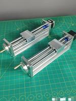 Zmontowane CNC osi Z narzędzie slajdów 100/170mm podróży CNC ROUTER ruch liniowy zestaw dla Reprap 3D drukarki CNC z/bez NEMA17stepper silnika w Części i akcesoria do drukarek 3D od Komputer i biuro na